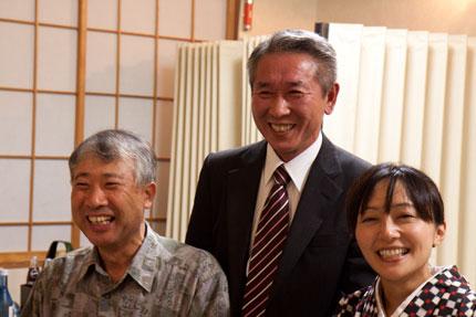 まさ爺さん、大潟商工会Tさん、須﨑旅館さん