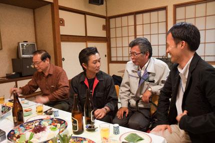 ユーアイ工業さん、サンクリーン塩尻さん、くまこうさん、横山先生