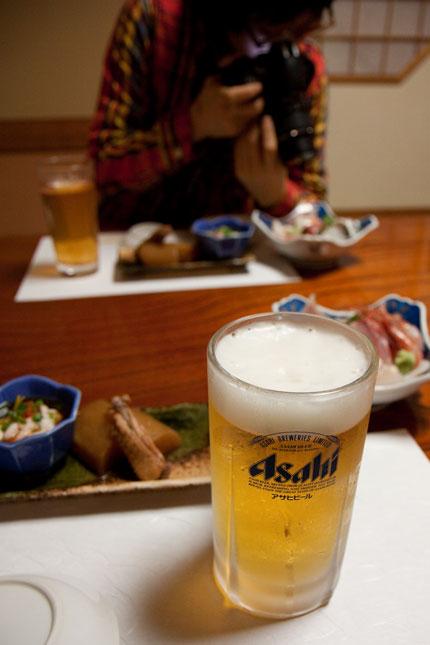 ビールで乾杯