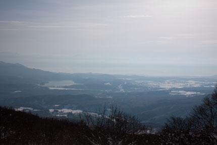 杉ノ原スキー場から野尻湖長野市街を臨む