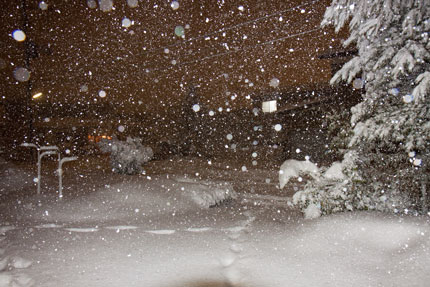1月13日から本格的に降り出した雪