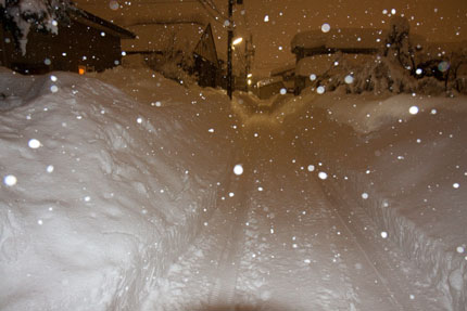 こんなに積もった雪