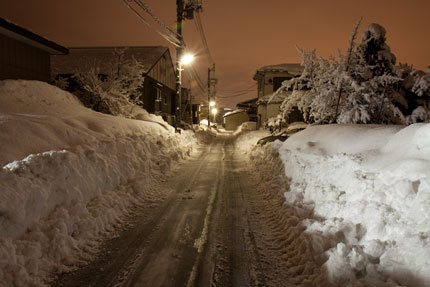 除雪後直ぐの風景
