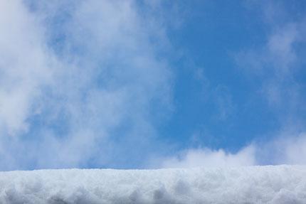 雪平線からの青空