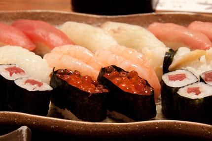 締めに寿司