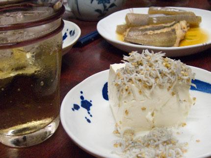 豆腐と魚の煮付け