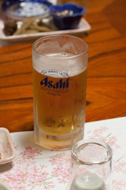 とりあえずビールですね