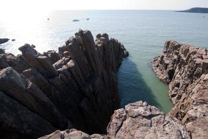 崖下が見えるところ