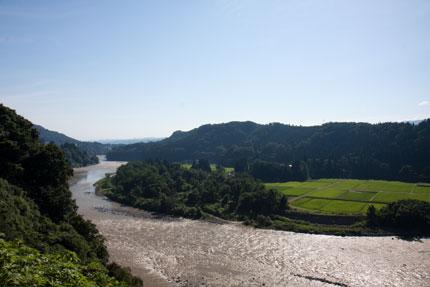 信濃川の流れ