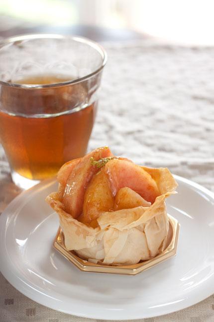 白桃のパイ