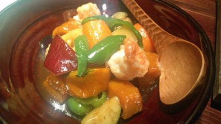 海鮮と野菜の煮物