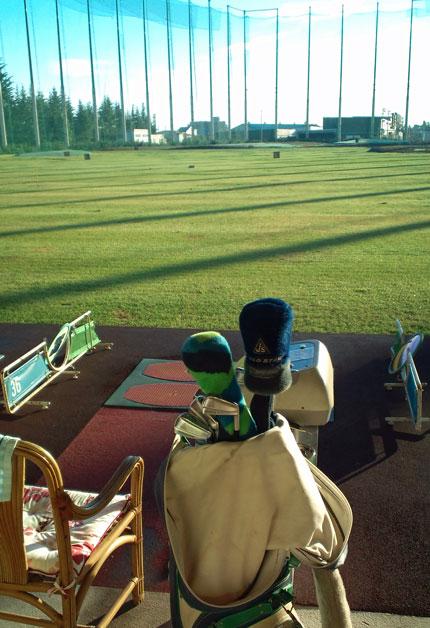 ゴルフの練習は、早朝6時から30分程度