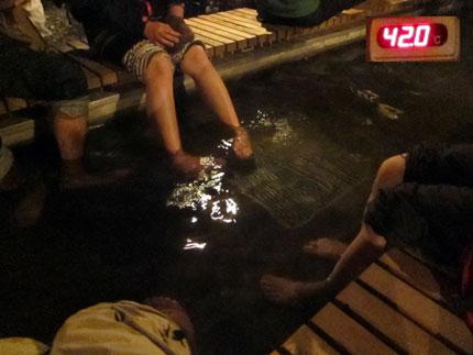 42°の足湯
