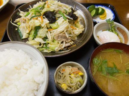 「野菜炒め定食」