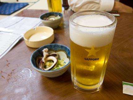 とりあえず、生ビール