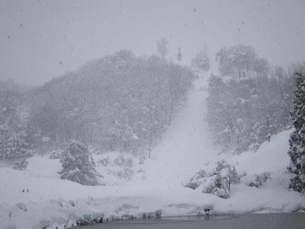 金谷山も大雪に見まわれていました