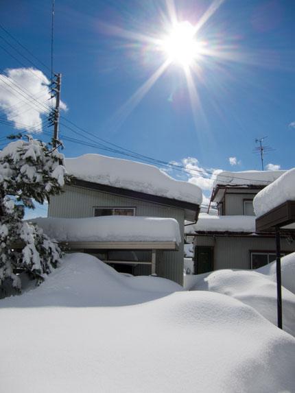 ようやく晴れた冬の日
