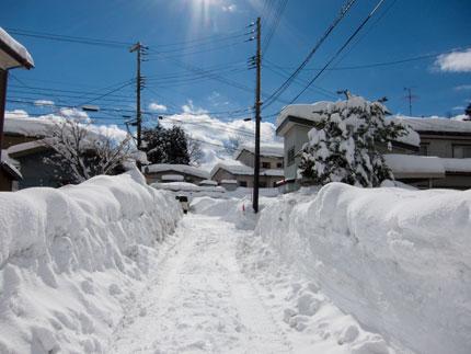 この日が積雪量のピーク