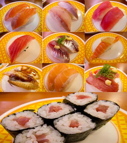 お寿司のオンパレード