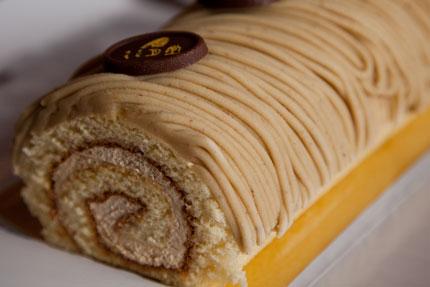 モンブランロールケーキ