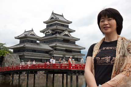 妻の願いで松本城