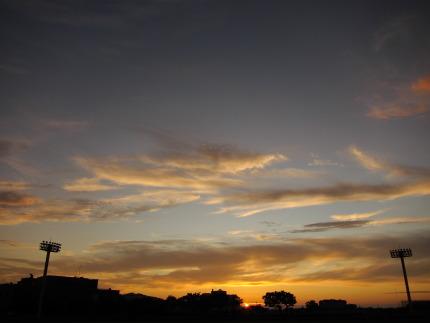 夕焼けの美しい日