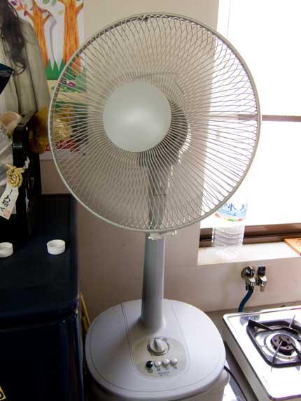 扇風機と併用