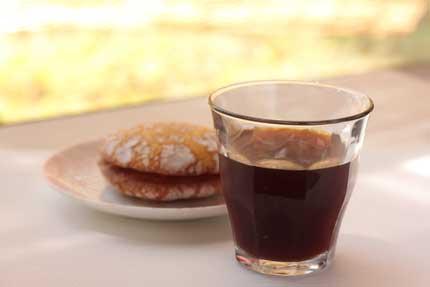 中煎りのコーヒーで作ったアイスコーヒー