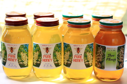 買って来た蜂蜜は、純国産1.2kgを8本