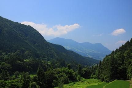 高社山を望む景色
