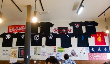 新潟県内の人気ラーメン店のTシャツ
