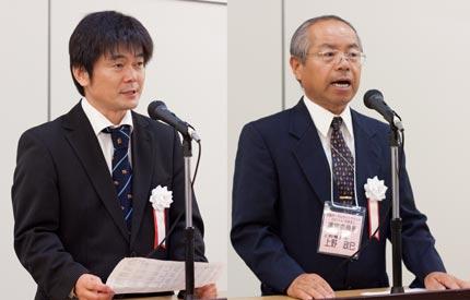 藤精機(株)の新藤さん 上野電子(株)上野さん