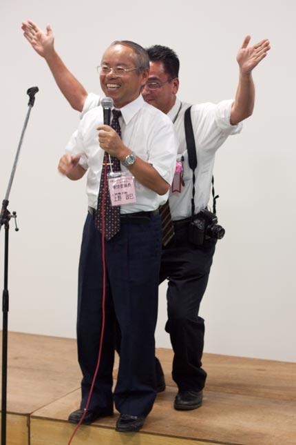 上野社長は、加藤先生にいじられていました