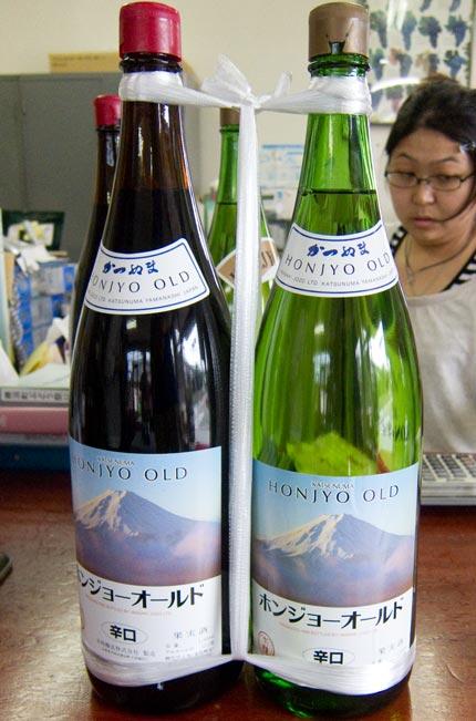 赤白1升ずつワイン