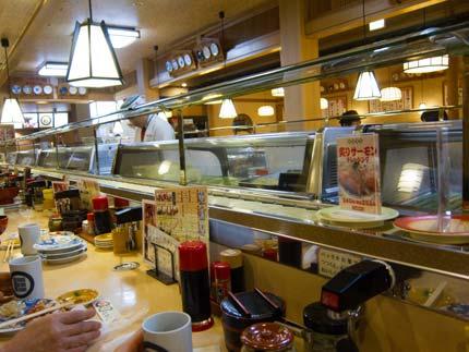 寿司があまり回っていない