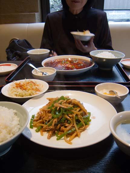 妻と中華料理店