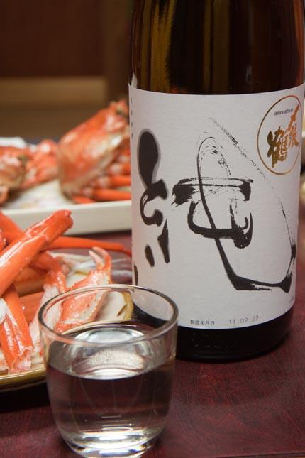 紅ズワイガニは、日本酒と一緒に頂きます