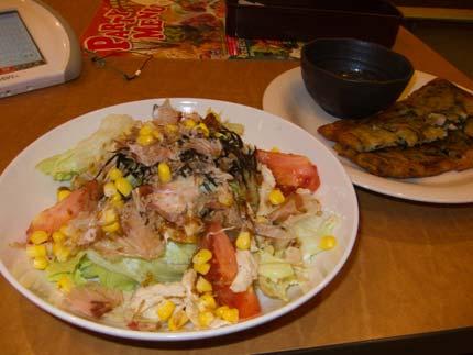 大盛サラダにチヂミ