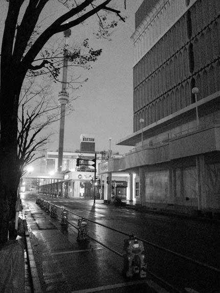 新潟市も雪が舞い寒い夜