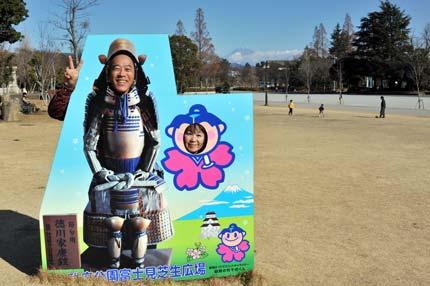 駿府公園にて少女Muさんと富士山をバックにツーショット