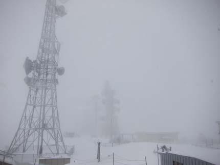 美ヶ原は、吹雪