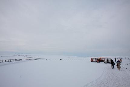 雪上車クルージングも時間となり