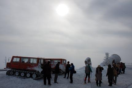スノーシューで散策した人たち