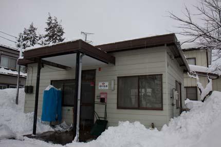 事務所、カーポート、納屋の屋根の雪を下ろしました