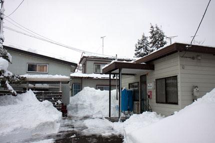 下の通路も除雪