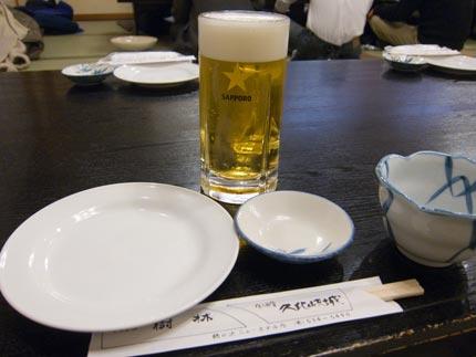 一人でビール撮影