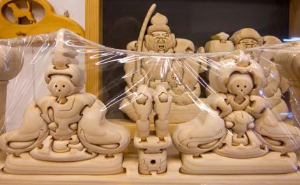雛人形の積み木細工