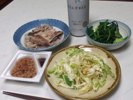3月上旬の夕食