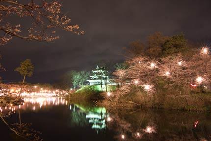 東側から見た高田城
