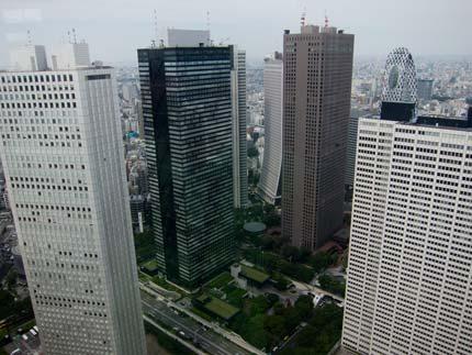 新宿の街を上から覗いてきました